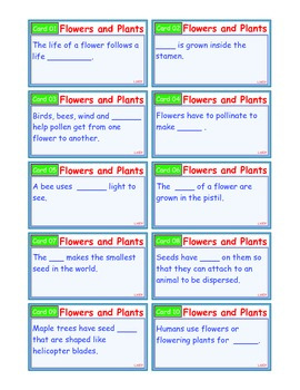 A Brilliant - I-Scoot – Flowers and Plants – 30 Task Cards - Interactive