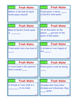 A Brilliant - I-Scoot – Fresh Water – 30 Task Cards - Interactive