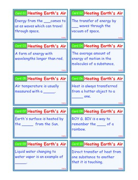 A Brilliant - I-Scoot – Heating Earth's Air – 30 Task Cards - Interactive