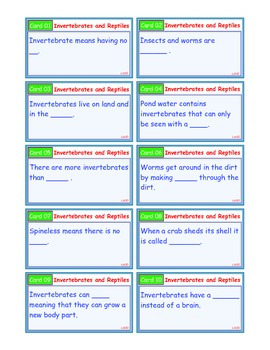 A Brilliant - I-Scoot – Invertebrates and Reptiles – 30 Task Cards - Interactive