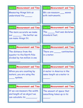 A Brilliant - I-Scoot – Measurement and Time – 30 Task Cards - Interactive