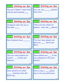 A Brilliant - I-Scoot – Orbiting Our Sun – 30 Task Cards - Interactive