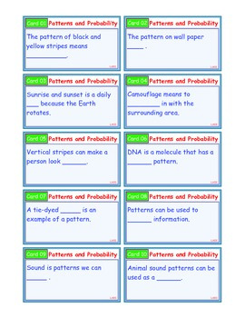 A Brilliant - I-Scoot – Patterns and Probability – 30 Task Cards - Interactive
