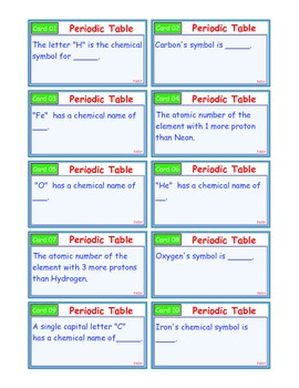A Brilliant - I-Scoot – Periodic Table – 30 Task Cards - Interactive