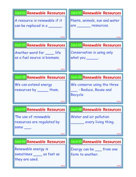A Brilliant - I-Scoot – Renewable Resources Energy – 30 Task Cards - Interactive