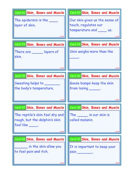 A Brilliant - I-Scoot – Skin, Bone and Muscle – 30 Task Cards - Interactive