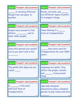 A Brilliant - I-Scoot – Transportation  Locomotion – 30 Task Cards - Interactive