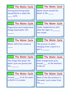 A Brilliant - I-Scoot – Water Cycle – 30 Task Cards - Interactive