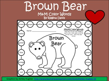 A+ Brown Bear M&M Color Words