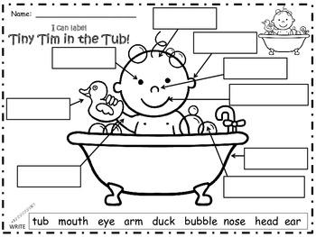 A+ Bubble,Bubble,Pop!  Tiny Tim Labels