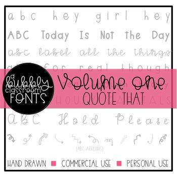 ABC Fonts Volume One