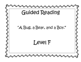 A Bug a Bear and a Boy - Guided Reading Lesson Plan