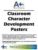 A+ Building Character Posters (red/blue/green theme)