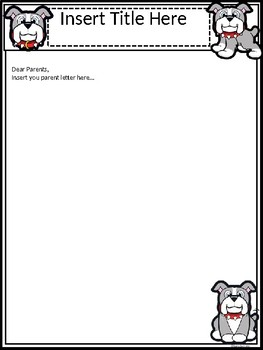 A+ Bulldog: *EDITABLE* Papers For Teacher News and Notes To Parents