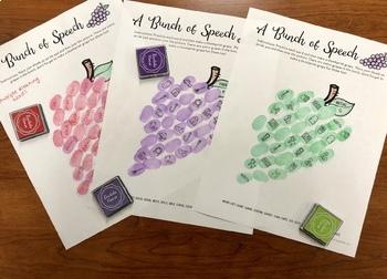 A Bunch of Speech Thumbprints: A SpeechTherapy Craft Activity