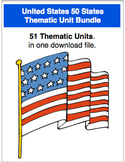 A Bundle - 50 United States Thematic Units