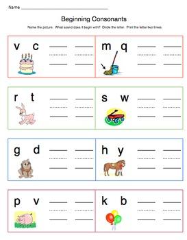 Beginning and Ending Consonants, bundle
