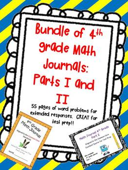 Bundle Every 4th Gr. MATH Teacher NEEDS!Journal I&II CCSS