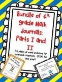 Bundle Every 4th Gr. MATH Teacher NEEDS!Journal I&II CCSS