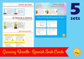 A Bundle: Spanish Task Cards. Tarjetas de Tarea.