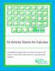 A Bundle of 29 Activity Sheets for Calculus