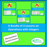 A Bundle of 3 Lessons on Operations with Integers