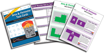 Perimeter and Area Task Cards – BUNDLE – Common Core Aligned