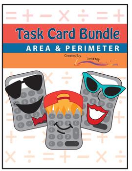 Perimeter and Area Task Cards – BUNDLE – Common Core Aligned