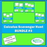 Calculus Scavenger Hunt Bundle  #3