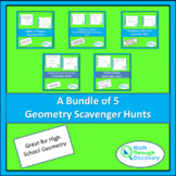 A Bundle of 5 Geometry Scavenger Hunts