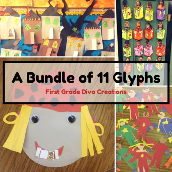 A Bundle of 8 Glyphs {With Math & Writing Printable Activities}