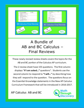 Calculus:  A Bundle of AB and BC Final Review