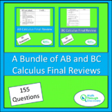 Calculus - A Bundle of AB and BC Final Review