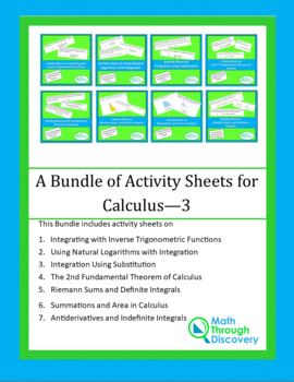 A Bundle of Activity Sheets for Calculus - 3