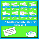 A Bundle of Activity Sheets for Calculus - 4