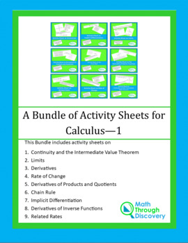 A Bundle of Activity Sheets in Calculus - 1