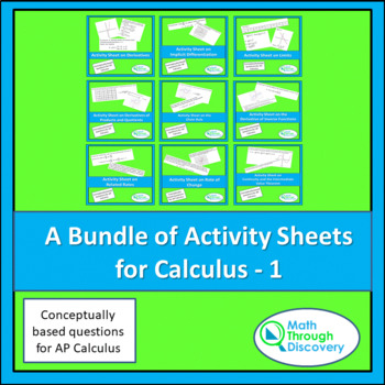 A Bundle of Activity Sheets for Calculus - 1