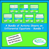 Calculus - A Bundle of Activity Sheets on Differential Equations