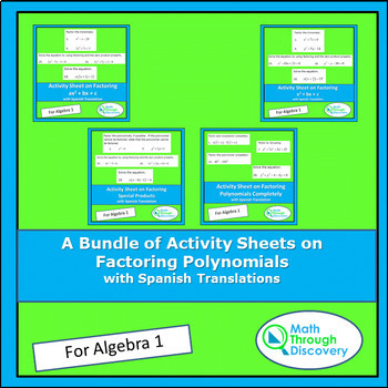 A Bundle of Activity Sheets on Factoring Polynomials