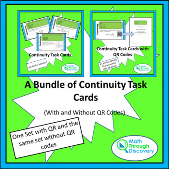 A Bundle of Continuity Task Cards (With and Without QR Codes)