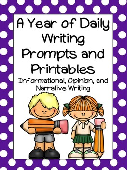 A Bundle of Daily Writing Prompts and Printables For the Year