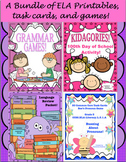 Bundle of ELA Printables, Games, and Task Cards