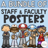 School Staff & Faculty Posters (Who Works In Our School?)