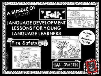 A  Bundle of Fall Language Development Lessons for Young Language Learners