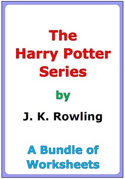 A Bundle of Harry Potter worksheets