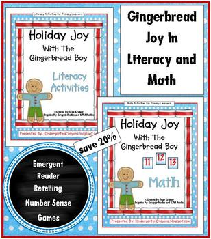 A Bundle of Holiday Joy with the Gingerbread Boy... literacy and math stations