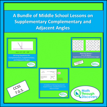 A Bundle of Lessons on Supplementary Complementary and Adjacent Angles