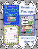 Back to School Bundle Reading Comprehension Passages and Questions Games Math