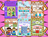 Reading Comprehension Passages and Questions Task Cards Printables Bundle K - 1