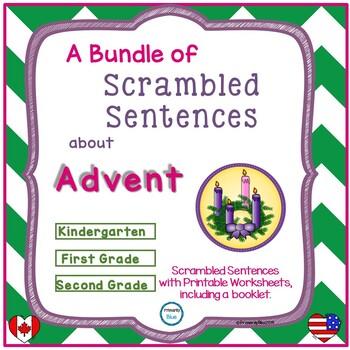 A Bundle of Scrambled Sentences about Advent